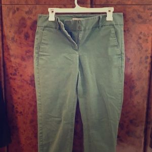 Green Loft pants- size6 with pickets